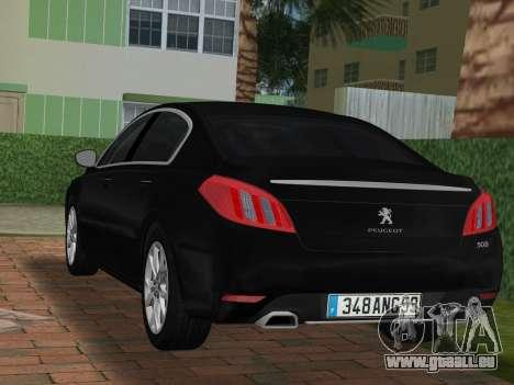 Peugeot 508 e-HDi 2011 pour une vue GTA Vice City de la gauche