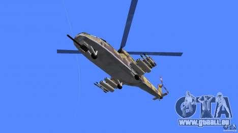 Mi-24 HindB pour une vue GTA Vice City de la droite