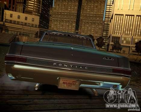 Pontiac GTO DF pour GTA 4 est une vue de l'intérieur
