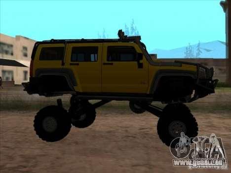 Hummer H3 Trial pour GTA San Andreas laissé vue