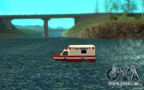 Ambulan boat für GTA San Andreas linke Ansicht