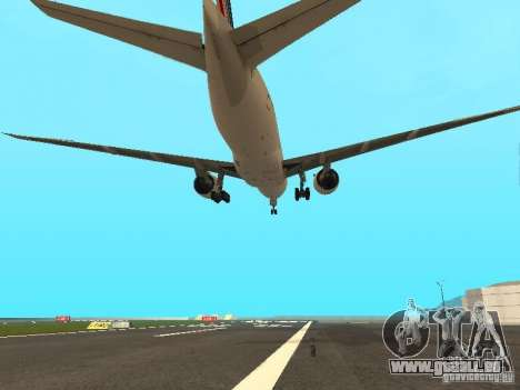 Boeing 777-200 Air France für GTA San Andreas Seitenansicht