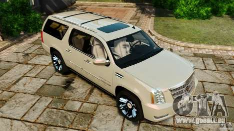 Cadillac Escalade ESV 2012 für GTA 4 Unteransicht