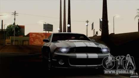 Ford Shelby GT500 2011 pour GTA San Andreas sur la vue arrière gauche