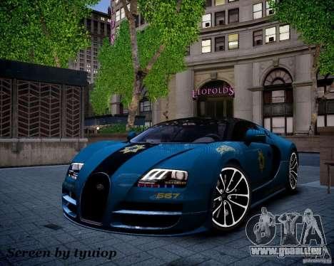 Bugatti Veryon SS COP pour GTA 4 est un côté