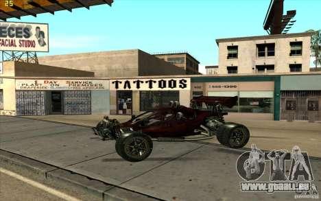 XCALIBUR CD 4.0 XS-XL RACE Edition pour GTA San Andreas laissé vue