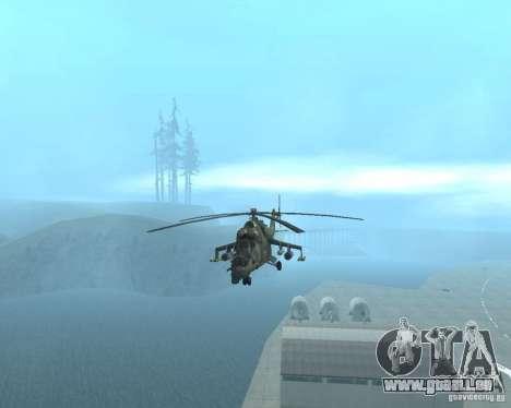 Mi-24p pour GTA San Andreas sur la vue arrière gauche
