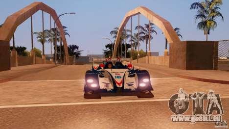 Porsche RS Spyder EVO Dyson Racing für GTA San Andreas zurück linke Ansicht