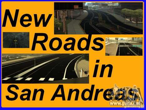 New Roads in San Andreas pour GTA San Andreas