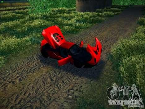 Hennessey Venom GT Spyder für GTA San Andreas Rückansicht