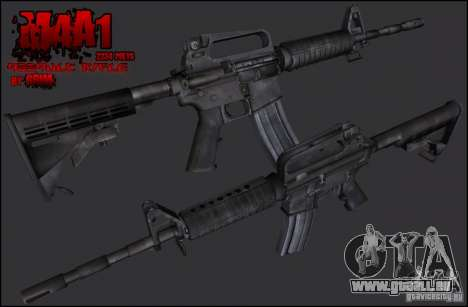 Colt M4A1 Commando Silenced pour GTA San Andreas deuxième écran