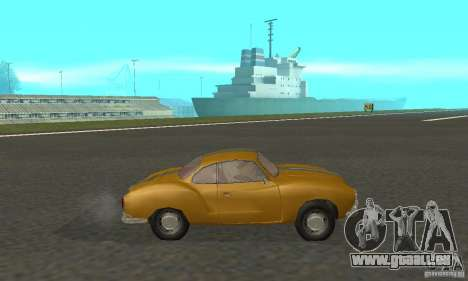 Volkswagen Karmann Ghia pour GTA San Andreas sur la vue arrière gauche