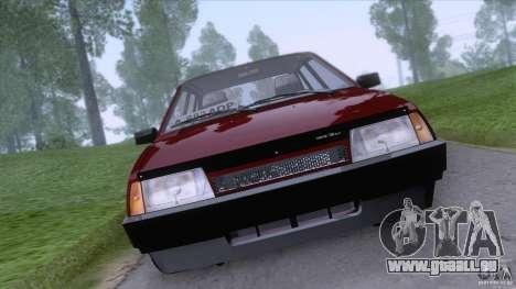 VAZ 2109 vidange finale pour GTA San Andreas sur la vue arrière gauche