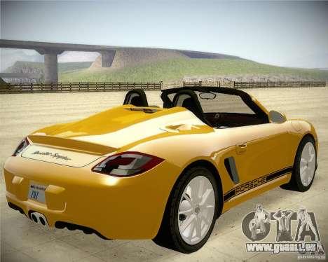 Porsche Boxter Spyder pour GTA San Andreas sur la vue arrière gauche