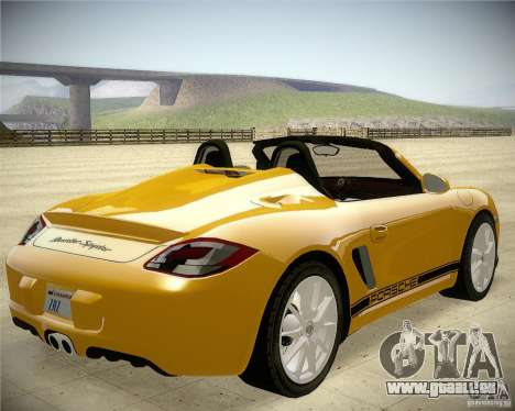 Porsche Boxter Spyder für GTA San Andreas zurück linke Ansicht