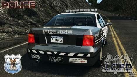 LCPD K9 Unit pour GTA 4 Vue arrière de la gauche