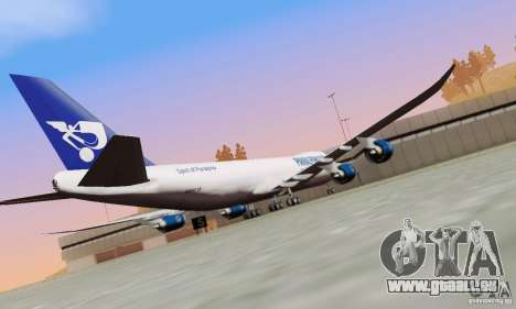 Boeing 747-8F für GTA San Andreas Rückansicht