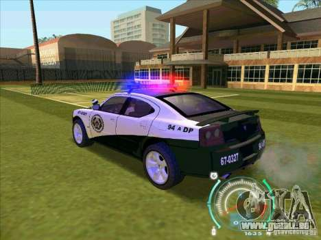 Dodge Charger Policia Civil from Fast Five für GTA San Andreas linke Ansicht