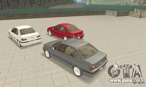 Peugeot 406 stock pour GTA San Andreas vue arrière