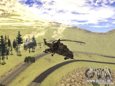 Mil Mi-24 von COD MW 2 für GTA San Andreas Innenansicht
