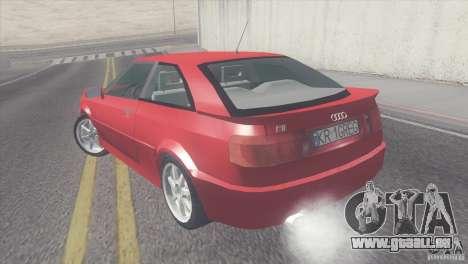 Audi S2 pour GTA San Andreas laissé vue