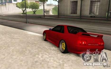 Nissan Skyline GTR-32 StanceWork pour GTA San Andreas laissé vue