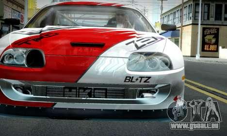 Toyota Supra JZA80 RZ Dragster für GTA San Andreas Rückansicht