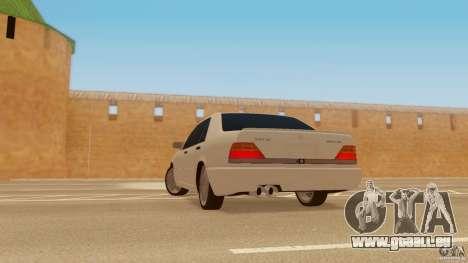 Mercedes-Benz 500SE pour GTA San Andreas laissé vue