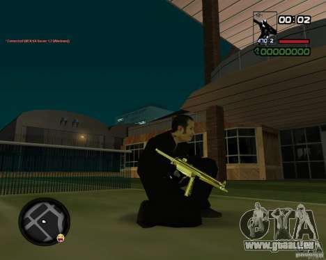 MP5 Gold pour GTA San Andreas