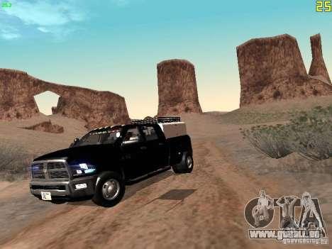 Dodge Ram 3500 Unmarked pour GTA San Andreas laissé vue