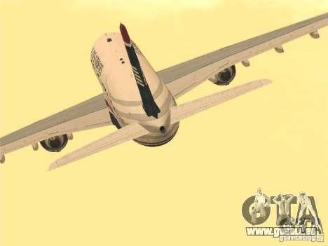 Airbus A330-300 US Airways für GTA San Andreas Rückansicht