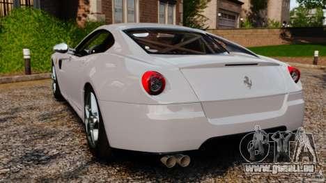 Ferrari 599 GTB Fiorano 2006 pour GTA 4 Vue arrière de la gauche