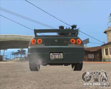 Nissan Skyline GT-R BNR33 pour GTA San Andreas vue arrière