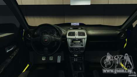 Subaru Impreza British ANPR [ELS] pour GTA 4 Vue arrière