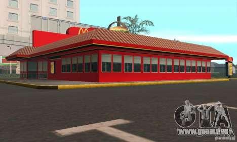 Restaurants McDonals für GTA San Andreas dritten Screenshot