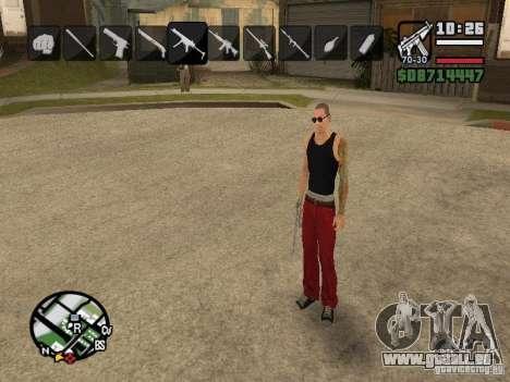 Symbole beim Ändern von Waffen für GTA San Andreas sechsten Screenshot