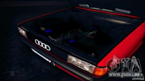 Audi 80 B2 pour GTA San Andreas vue arrière