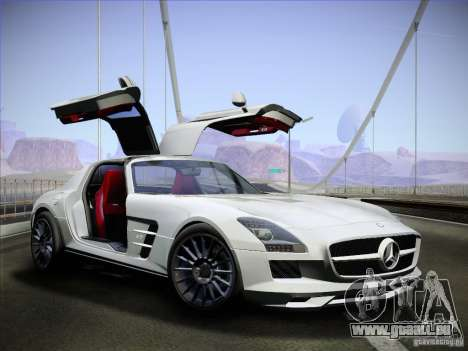 Mercedes-Benz SLS AMG pour GTA San Andreas vue de droite