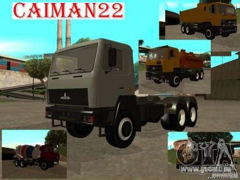 Super MAZ MAZ, 5551 pour GTA San Andreas