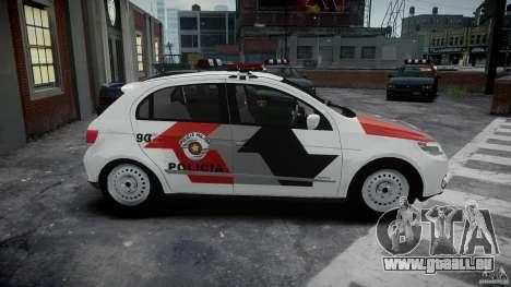 Volkswagen Gol G5 PMSP [ELS] pour GTA 4 est une vue de l'intérieur