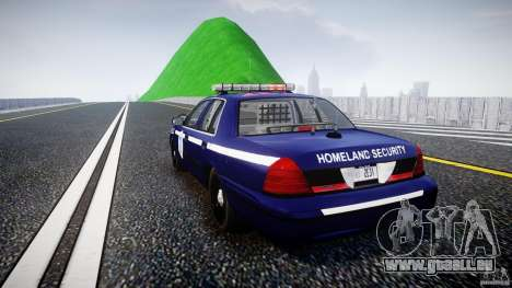 Ford Crown Victoria Homeland Security [ELS] für GTA 4 hinten links Ansicht