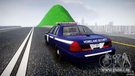 Ford Crown Victoria Homeland Security [ELS] pour GTA 4 Vue arrière de la gauche