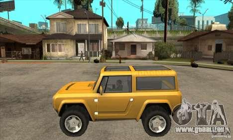 Ford Bronco Concept für GTA San Andreas linke Ansicht
