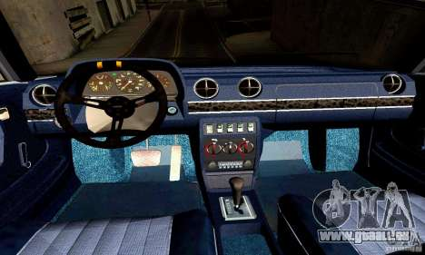 Mercedes Benz W123 pour GTA San Andreas vue intérieure