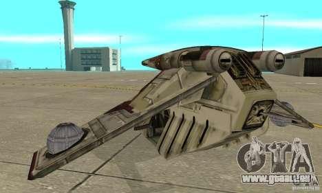 République Gunship de Star Wars pour GTA San Andreas sur la vue arrière gauche