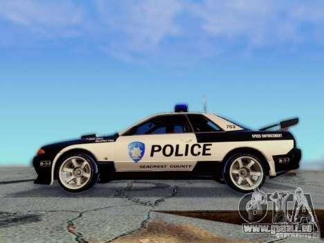 Nissan Skyline R32 Police pour GTA San Andreas vue de droite