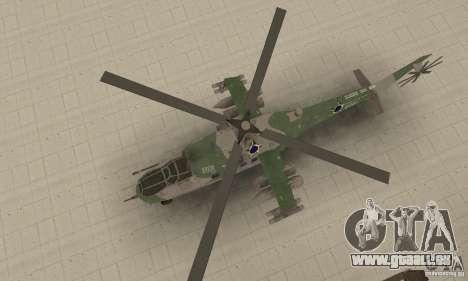 Ein Hubschrauber der globalen Konflikt-Schtorm für GTA San Andreas rechten Ansicht