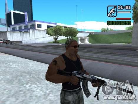 AK-103 de WARFACE pour GTA San Andreas deuxième écran
