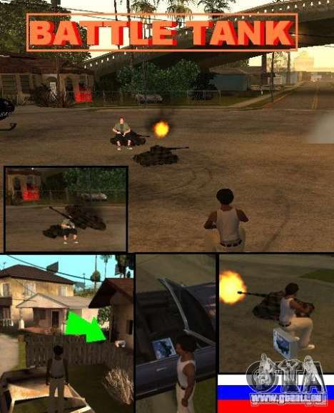 BATTLE TANK für GTA San Andreas