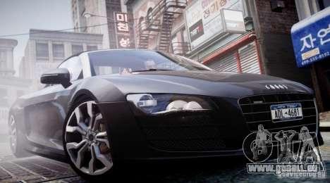 Audi R8 Spyder 5.2 FSI Quattro V4 [EPM] pour GTA 4 Salon